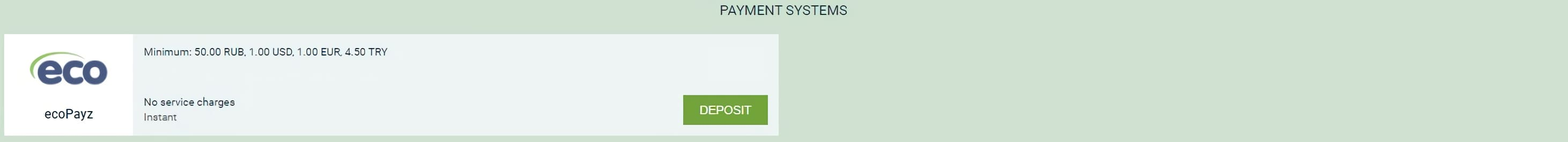 payment systems Ecopayz