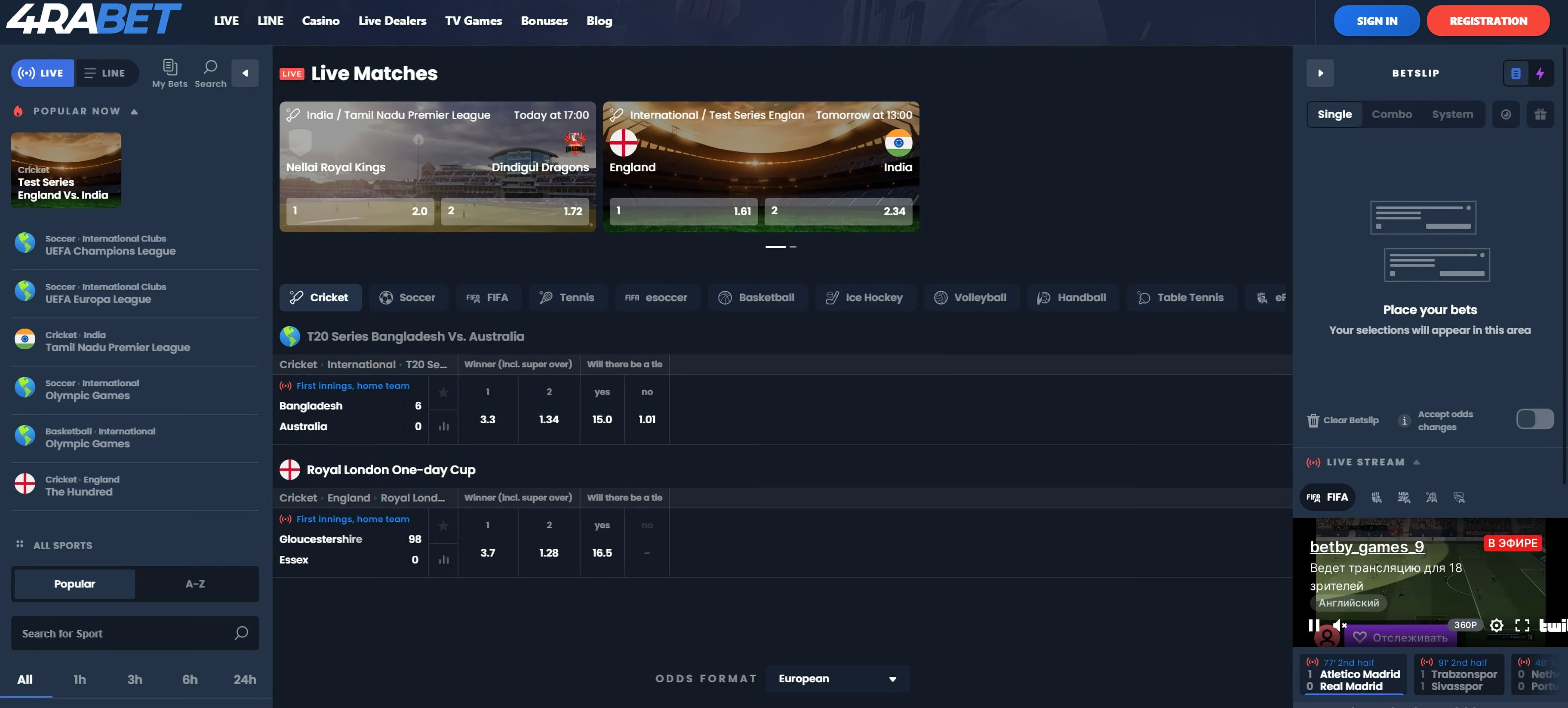 4rabet official betting site