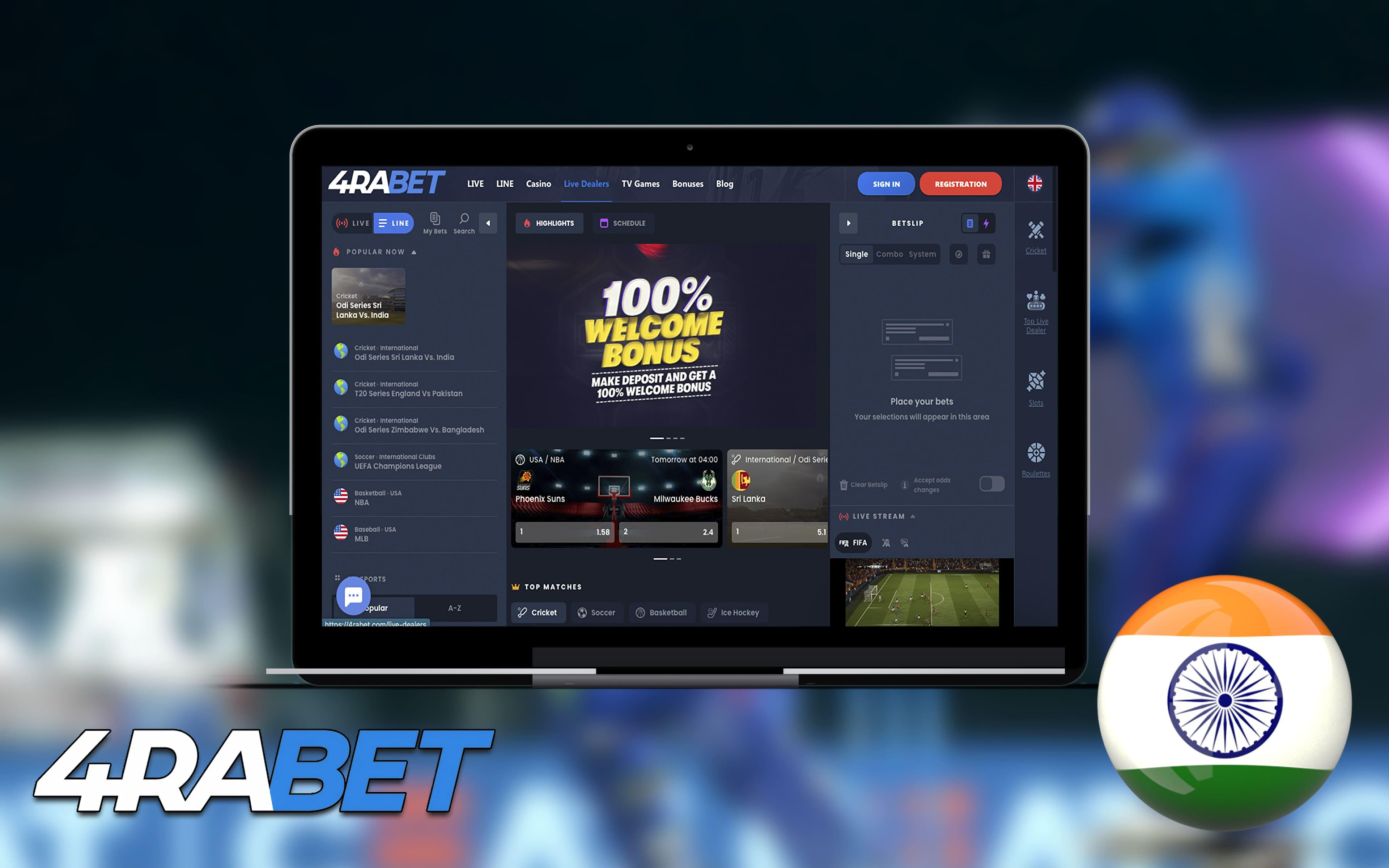 4rabet betting bookmaker india