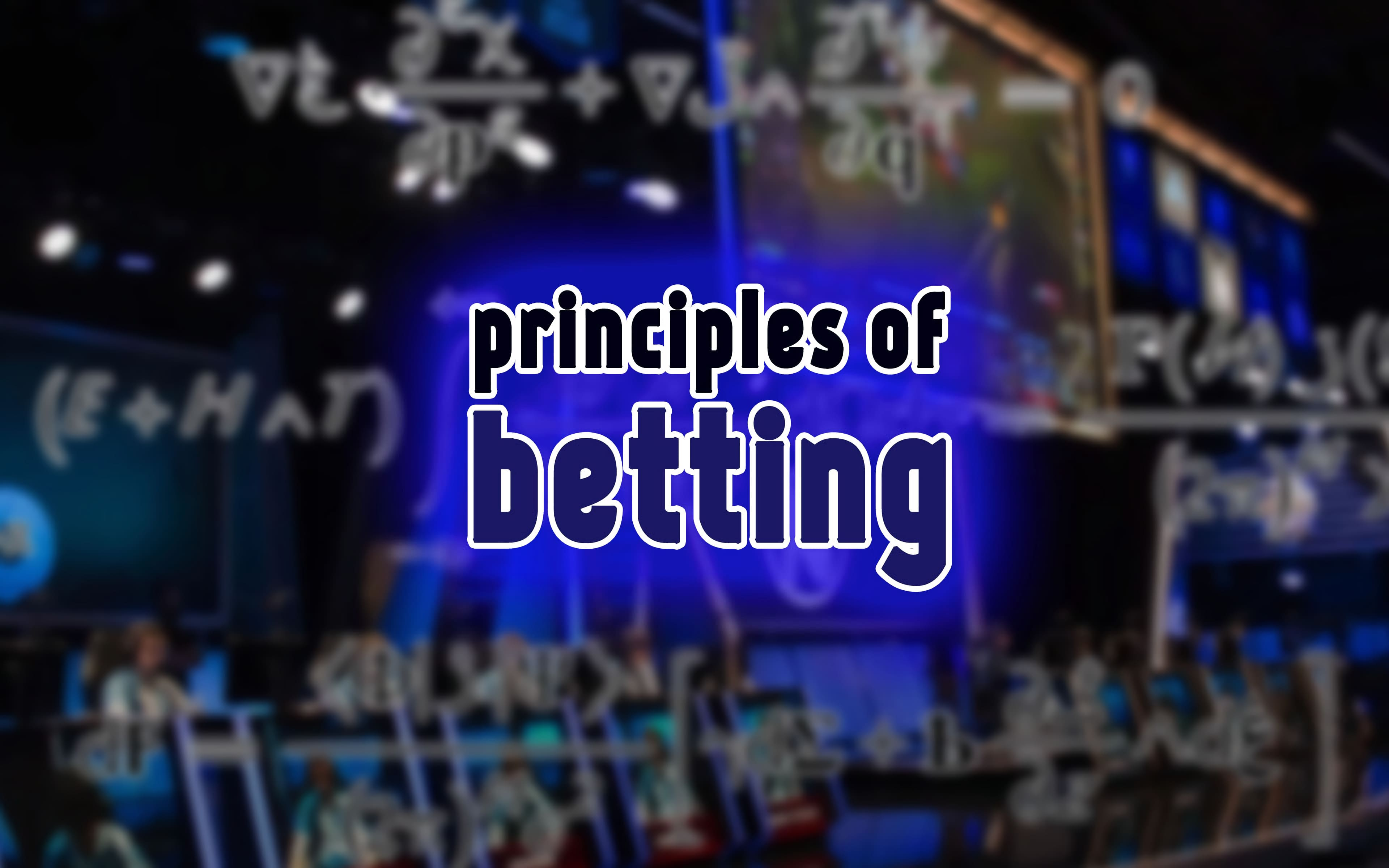 principles of betting India